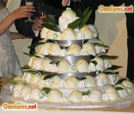torta nuziale con delizia al limone